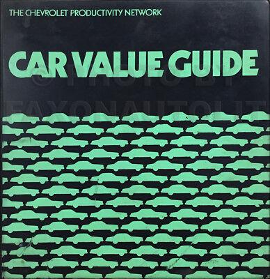 1978 Chevrolet Car Value Guide Dealer Showroom Album Data Book Color Original Ebay