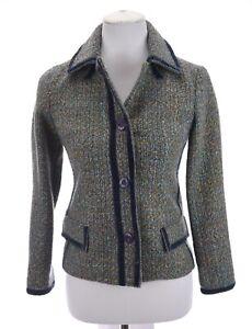 Marc-Jacobs-Womens-Tweed-Velvet-Trim-Blazer-Jacket-Acrylic-Wool-Blend-Blue-Sz-2