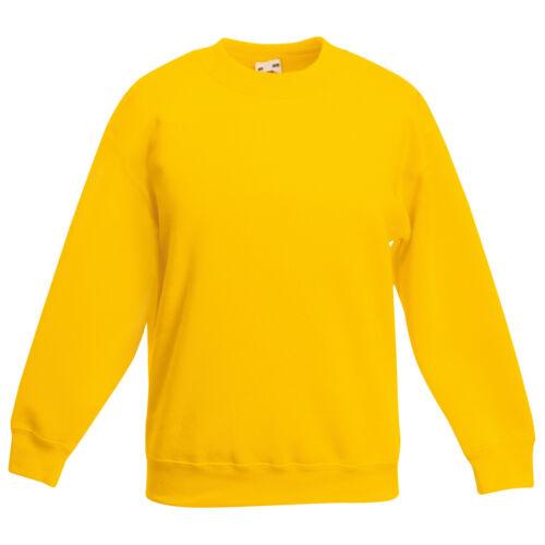 Kids Boys Girls Childrens School Sweatshirt Jumper Top Fleece