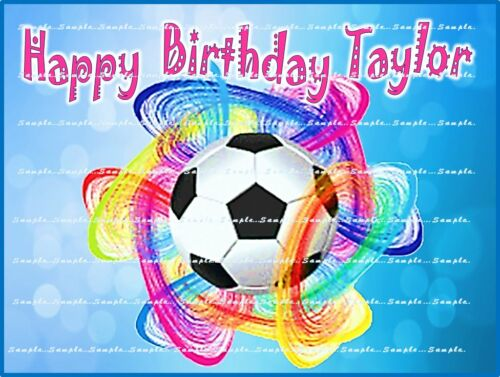 SOCCER Personalized edible cake topper FREE SHIPPING in Canada