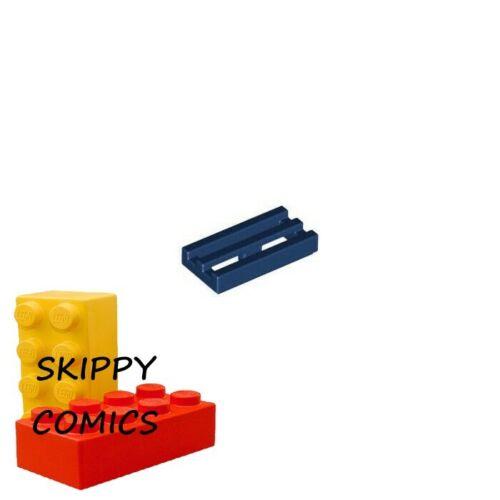 2412 Lot x8 Lego Plaque Grille BLEU F//D BLUE Plate Radiator 1x2-6022579