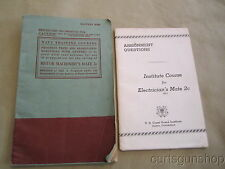Two Course Books Navy & Coast Guard Training 2pc Book Lot