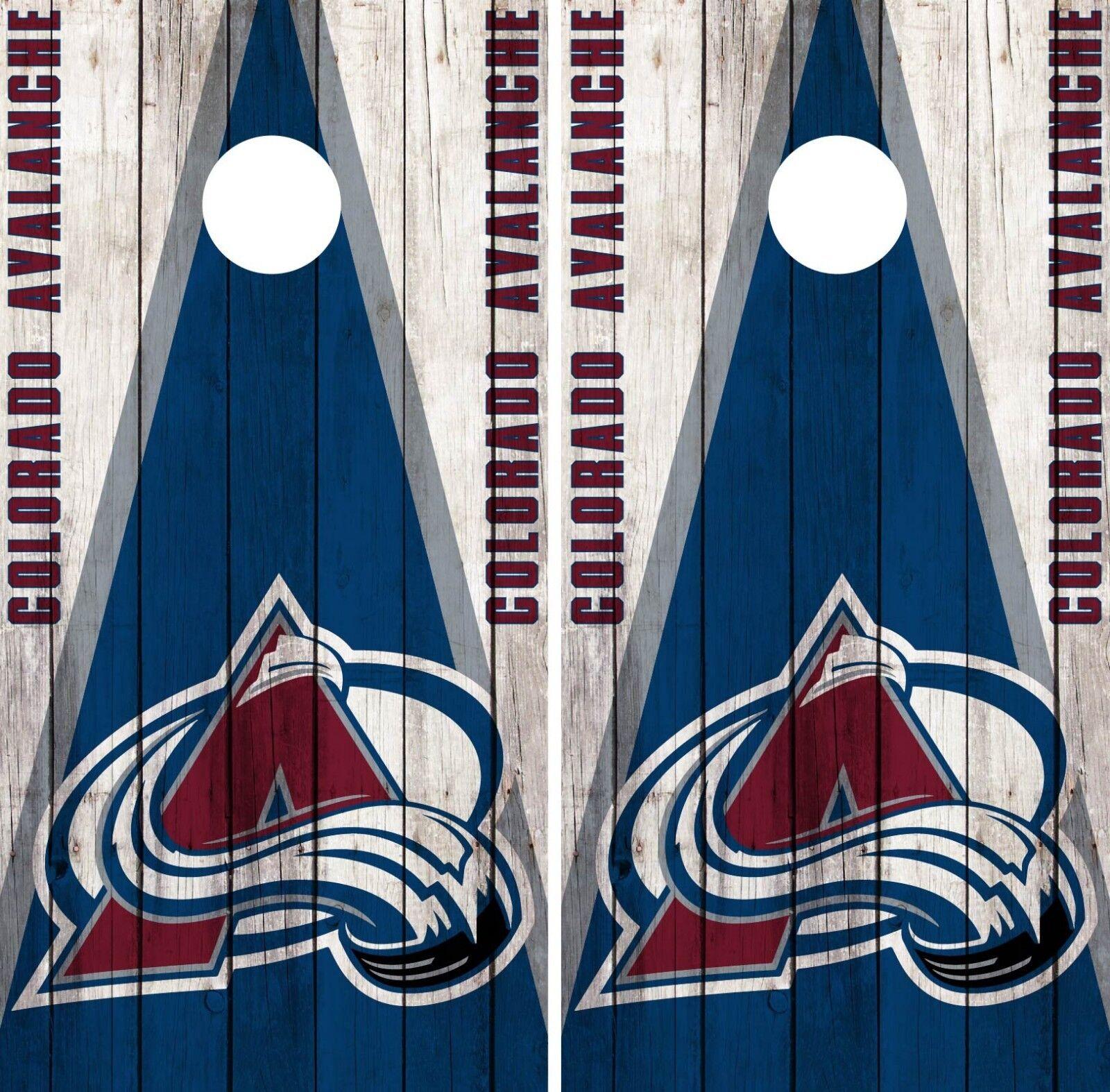 colorado Avalanche Cornhole Wrap NHL Vintage Game Skin Set Vinyl Decal CO334