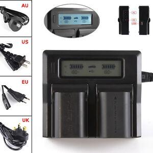 LCD-Dual-Battery-Charger-For-LP-E6-Canon-7D-6D-5D-Mark-II-III-60D-70D-80D-DSLR