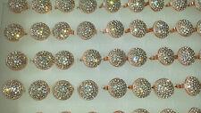 Job lot of 50 pcs Round shape Diamante Fashion Rings - NEW Wholesale lot I1