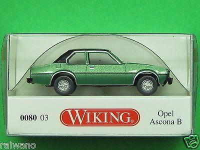 1:87 Wiking 008003 Opel Ascona B jadegrün metallic Blitzversand per DHL-Paket