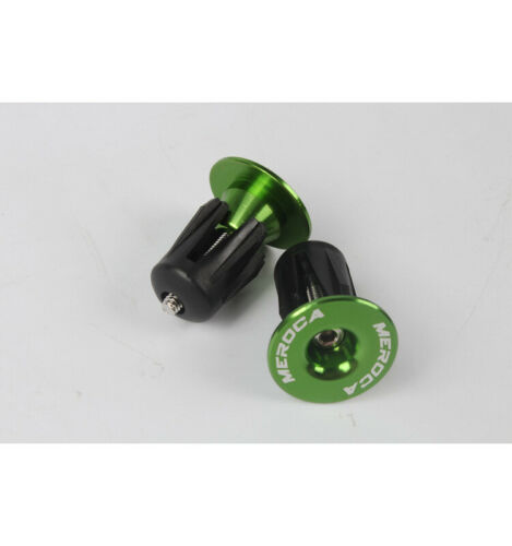1 Pair MEROCA MTB End Plugs Aluminum Lock-on For 22~24mm Handlebar Lightweight