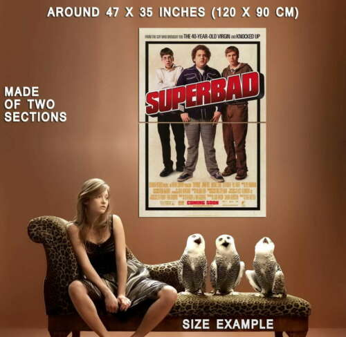 66119 Superbad Movie Jonah Hill Michael Cera Wall Print POSTER AU