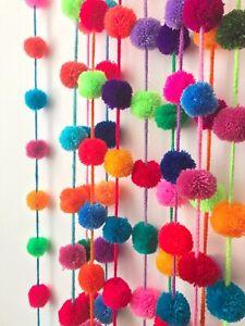 Boho Decor Party decor yarn pom pom Gold Big Pom Pom 2 inches