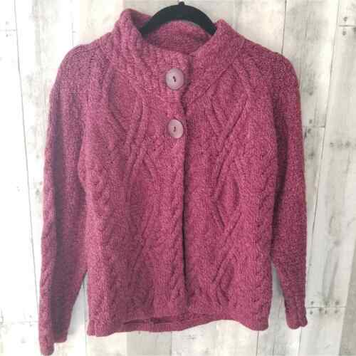 Inis Crafs Wine Colored Wool Sweater M