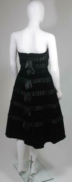 HARVEY BERIN 1960s Velvet and Satin Cocktail Dres… - image 7