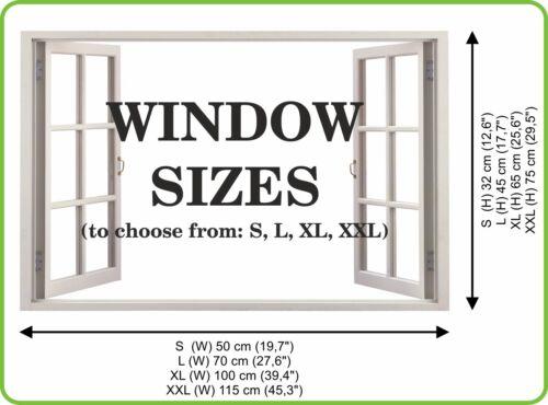 3D Effect Window WALL STICKERS VENICE Sticker Art Vinyl Decal Decor Mural 09