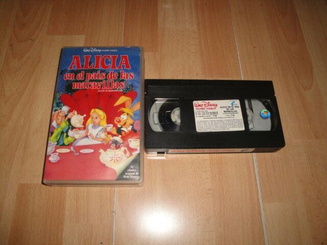 ALICIA EN EL PAIS DE LAS MARAVILLAS WALT DISNEY CLASICO 13 EN VHS BLACK DIAMOND
