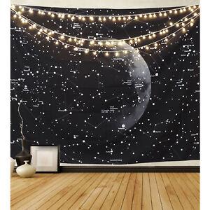 USA Galaxy y Luna Tapiz Colgante De Pared Colcha Tapiz Universo Decoración del hogar