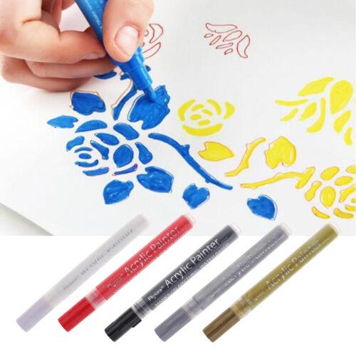 5Acrylic Paint Marker Pen Wasserdichte Kunstmarkierungsstift mit Wasserlack