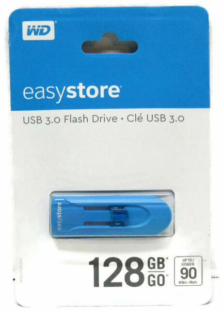 Blue WD Easystore 128GB USB 3.0 Flash Drive