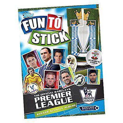 TOPPS amusant à coller-Premier League autocollant activité album 150 autocollants /& gogo