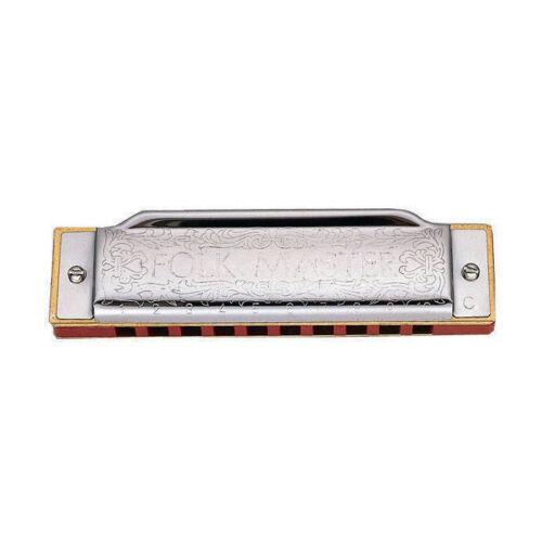 Key of A Suzuki FolkMaster Diatonic 10-Hole Harmonica