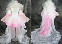 H-049 Size m/L/XL Lacing VOCALOID Luka Cosplay costume dress Bridal-dress