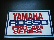 YAMAHA RD 250 LC RD 350 LC YPVS PRO-AM SERIES nose fairing racing sticker decal
