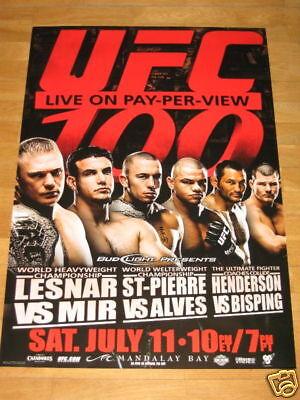 UFC 79 Poster Georges St-Pierre GSP Hughes Wanderlei Silva Chuck Liddell Mma