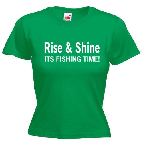 Fishing Ladies Lady Fit T Shirt 13 Colours Size 6-16