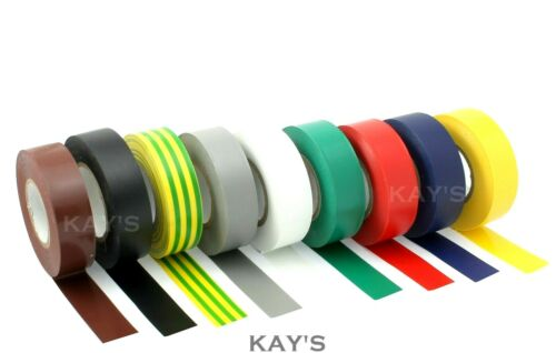 1 FREE ELECTRICAL INSULATION INSULATING PVC TAPE FLAME RETARDANT QUALITY BUY 5