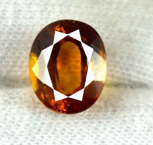 Oval 7.90 Ct Padparadscha Orange Sapphire Gemstone 100% Natural Certified L5956