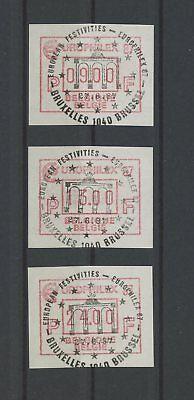 M1128 Briefmarken Preiswert Kaufen Belgien Atm Automatenmarken Europhilex 1987 Gest