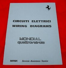 Ferrari Mondial QV - Electrical Wiring System - RARE Technical Manual 1982