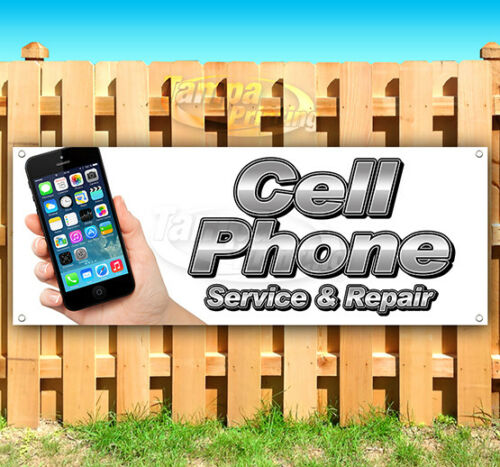 CELL PHONE SERVICE & REPAIR Advertising Vinyl Banner Flag Sign Many Sizes IPHONE