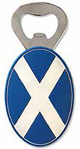 Scottish Iconic Blue Saltire Bottle Opener PU Fridge Home Kitchen Magnet