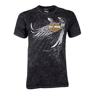 Badlands-Harley-Davidson-Men-039-s-Wing-Skull-Short-Sleeve-T-Shirt
