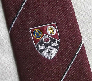 Impartial Vintage Cravate Homme Cravate Shield Crested Club Association Society-afficher Le Titre D'origine Pour Convenir à La Commodité Des Gens