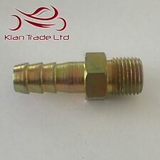 "M16 x 1.5 for 12mm(1/2"") Barb Tail - MALE STRAIGHT HYDRAULIC NIPPLE PIPE FITTING"