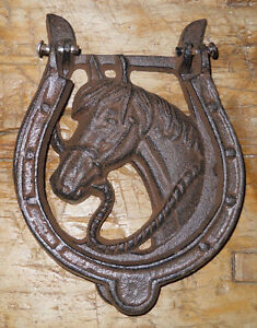 Image Is Loading Cast Iron Antique Style Rustic HORSE HEAD Door