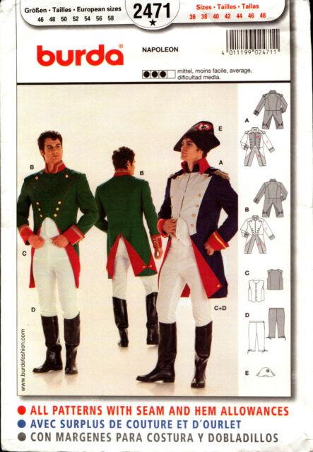 Burda Sewing Pattern 2471 Burda Mens Napoleon Costume