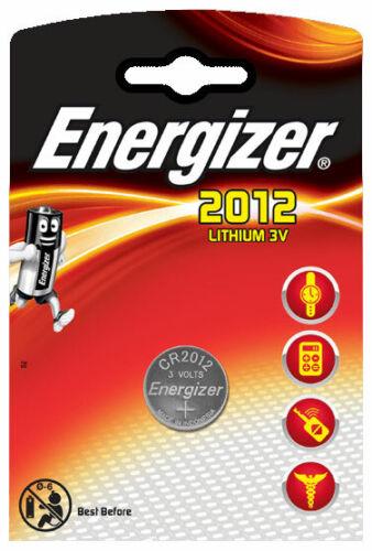 10 x Energizer CR 2012 3V Lithium Batterie Knopfzelle 58mAh im Blister
