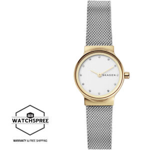 Skagen-Ladies-039-Freja-Silver-Tone-Steel-Mesh-Watch-SKW2666