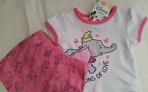 55c59ab96 DISNEY DUMBO Licensed Baby girl 2pc pyjamas pajamas pjs cotton ...