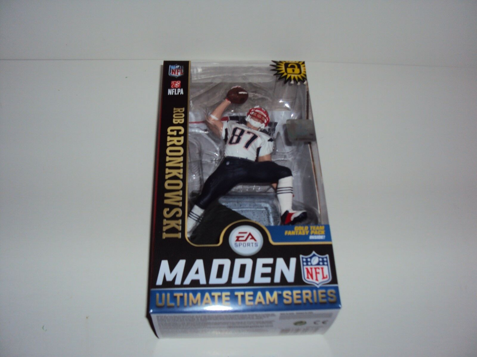 2018 McFarlane ESA Sports Madden NFL 19 Rob Gronkowski  nuovo Engle Patriots EXL  presa di marca