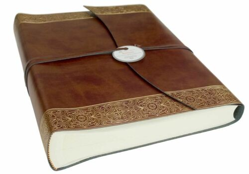 Handmade in Italy Maya Recycled Leather Photo Album Large Gold
