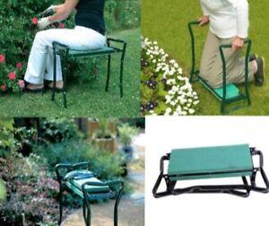 2 In 1 Folding Portable Garden Kneeler Padded Chair Seat