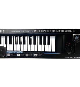 Sharper-Image-Musical-Portable-37-Key-Digital-Roll-Up-Electronic-Keyboard