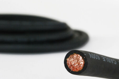 WELDING CABLE 1 AWG BLACK 400/' FT BATTERY LEADS USA NEW Gauge Copper