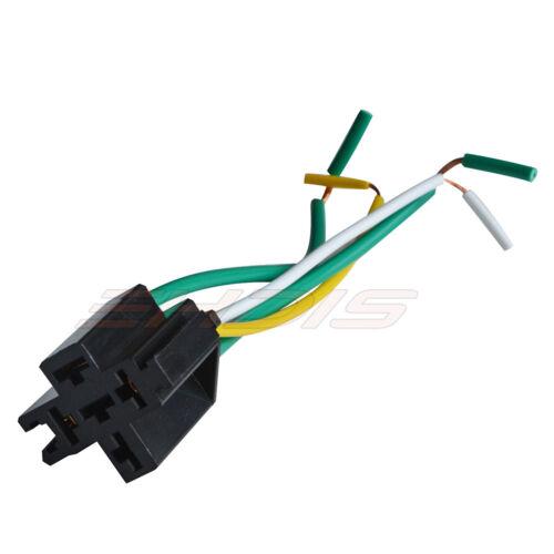 60A Car Relay LED 12V//24V 4-Pin w// Socket Holder Normal Open SPST for Truck Bike