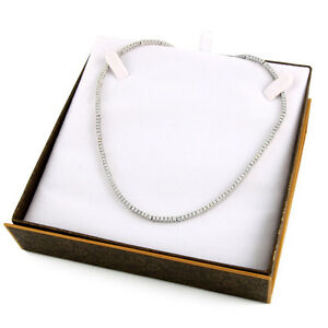 Fancy 14k white gold 5.40CT DTW necklace DI-2