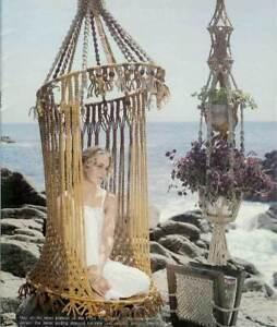 Image Is Loading Macrame Birdcage Chair  Bikini Butterfly Shawl Hamper PATTERN