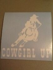 Cowgirl Up Horse Vinyl Die Cut Decal, window,car,truck,trailer,rodeo,funny,iPad