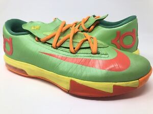 """Nike KD 6 GS """"Candy"""" Size 7 Green"""
